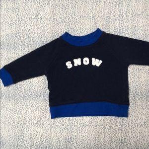 Janie and Jack SNOW sweatshirt- like new